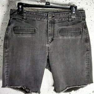 LOFT Ann Taylor Sz 8 Curvy Cut Off Jean Shorts